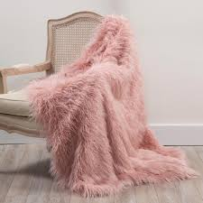 Light Pink Fur Throw Blanket Best Home Fashion Dusty Pink Polyester Throw Blanket