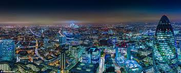This blue-toned mesmerising panoramic was taken from the rooftop of Sushi  Samba, which