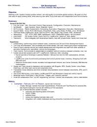 Qa Resume Examples Qa Resume Sample 24 Qa Entry Level Standart Pictures Moreover 24 11