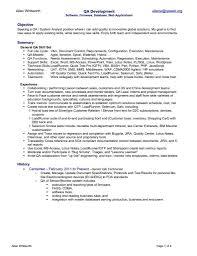 Qa Resume Sample 12 Qa Entry Level Standart Pictures Moreover 791