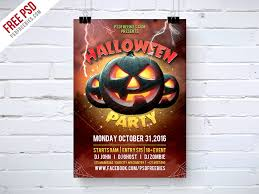 Halloween Party Flyer Template Free Psd Psdfreebies Com