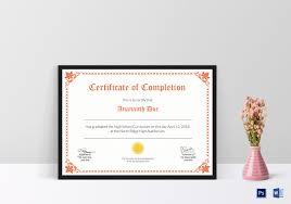 School Certificate Design Psd High School Diploma Certificate Template