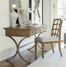 modern wood and metal furniture. French Modern Wood + Metal Writing Desk With Drawers And Furniture