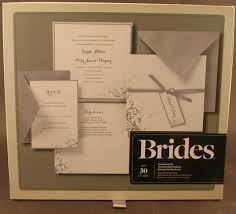 Details About Brides Gartner Studios 30 Count Silver And White Invitation Kit Unused Printable
