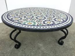 coffee table iron mosaic round tile coffee table on iron base for round coffee table coffee table iron
