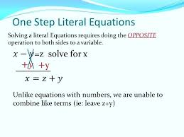 math equation solver and steps literal equation definition math one step literal equations solving a literal