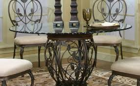 Pedestal Kitchen Table Set Fresh Outstanding Round Glass Dining