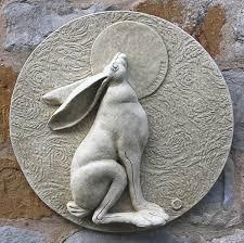 hare wall plaque lunar hare