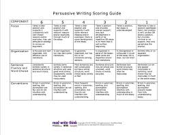 best language based classroom images school  persuasive writing scoring guide from write think