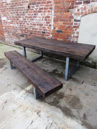 reclaimed industrial chic 10 12 seater sleeper top dining table each table is handmade for each and every customer made from 200x100 solid timber