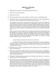 Commercial Law Review Quiz No 1 Letter Of Credit Business Law