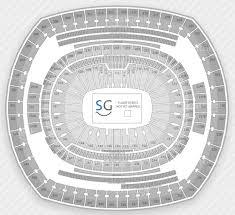 Metlife Seating Chart With Seat Numbers Metlife Stadium Seating Chart Wwe