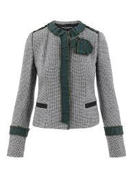 Dolce Gabbana Houndstooth Wool Jacket