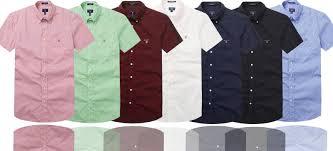 Cheap Mens Designer Shirts 2019 Men Shirt Classic Style Shirt Men Shirts Fashion Brand Short Sleeve Horizontal Gant Men S Casual Shirts White Polo Solid Color Discount