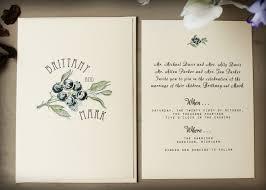 blueberry wedding invitation printable or handmade ordered Handmade Wedding Invitations Etsy Handmade Wedding Invitations Etsy #28 Elegant Wedding Invitations