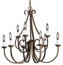 kichler 2031tz dover 2 tier candle chandelier 9 lights 72 chain