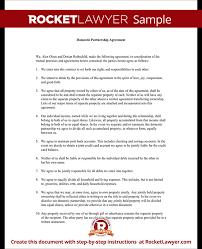 Domestic Partnership Agreement Amazing Domestic Partnership Agreement Forms Rocket Lawyer