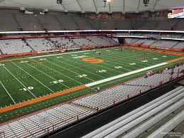 Syracuse Football Dome Seating Chart Carrier Dome Section 322 Syracuse Football Rateyourseats Com