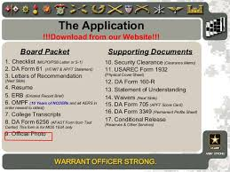 Army Warrant Officer Mos Chart Wo Brief 2013_new