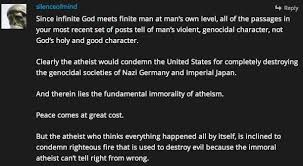 is silenceofmind an atheist troll the atheist papers immorality of atheism