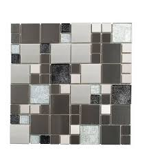 light dark glass cube mosaic tile