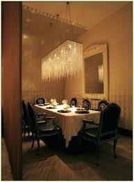 rectangular crystal chandelier dining room medium