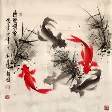 chinese paintings koi fish koi fish 69cm x 69cm 27 x 27 2382001