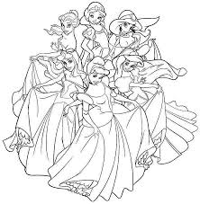 All Disney Princesses Coloring Pages Getcoloringpagescom