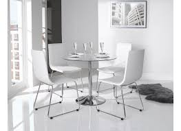 orbit 900 mm round glass tables orbit clear enzo chairs