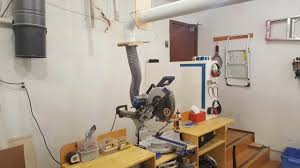 a look at the completed dust collection on the miter saw