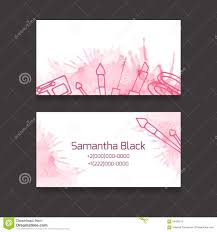 makeup artist business card royalty free vector