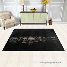 bennigiry sugar skull area rug carpet 3 25 x 5 vogue modern floor rugs mat