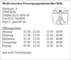 Kommend von köln stadteinwärts über die vorgebirgstrasse: Medizinisches Versorgungszentrum Mez Koln Psychiater Psychotherapeuten Zollstock Offnungszeiten