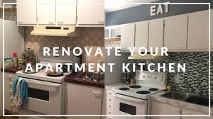 Kitchen Make Over Apartment Kitchen Makeover On A Budget Diy Youtube