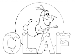 Frozen Coloring Sheet Olaf
