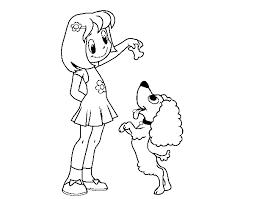 Disegno Di Ragazza Con Cucciolo Da Colorare Acolorecom