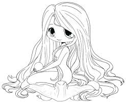 Chibi Unicorn Girl Coloring Pages Cute Sheets Colouring Astonishing