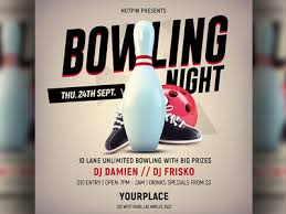 Bowling Event Flyer Bowling Flyer Template By Hotpin On Dribbble