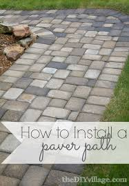 putting down pavers. Brilliant Putting Installing A Paver Path Can Be Lot Of Work But Is Totally Worth Every Sore Inside Putting Down Pavers B