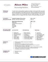 Resume For Accountant Assistant Resume Samples For Accounting