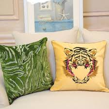 cool couch cushions.  Couch Tiger Embroidered Decorative Pillows For Couch Cool Animal Cushions In Cool Couch Cushions