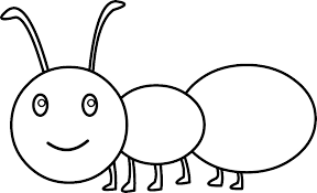 Small Picture Ant clipart coloring page Pencil and in color ant clipart
