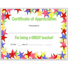 Free Teacher Appreciation Certificates Download Word And Publisher