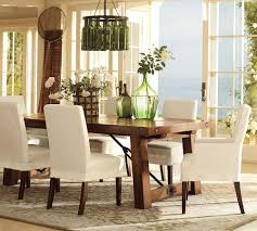pottery barn white dining table