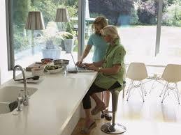 the clean look of quartz countertops is popular in modern designs