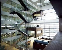 office building interior design. Ten Storey Bank Office Building / Nykredit Headquarter, Copenhagen Mortgage Interior Design Photo \u2013 L