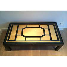 french vintage black coffee table in