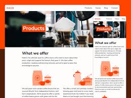 products page kaldi products page by darin dimitroff dribbble