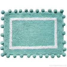 better homes gardens periwinkle cotton bath rug with pom pom border vxnmk0x4