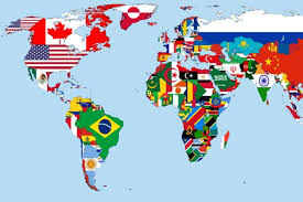 winners of the international student teacher essay contest on  world flag map <a href